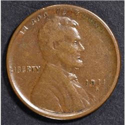 1911-S LINCOLN CENT VF