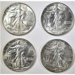 4-CH AU 1941 WALKING LIBERTY HALF DOLLARS