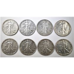 8-AU 1942 WALKING LIBERTY HALF DOLLARS