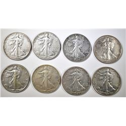 5-1940, 1-40-S & 2-46 AU WALKING LIBERTY HALVES