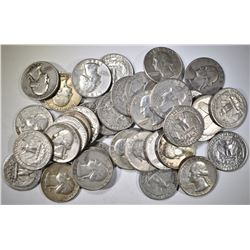 $10 FACE VALUE 90% SILVER U.S. QUARTERS