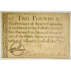 1771 2 POUNDS NORTH CAROLINA BEARER NOTE