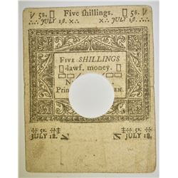 1780 5 SHILLINGS CONNECTICUT