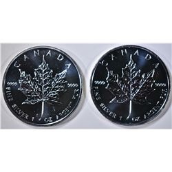 2-2009 CANADA ONE OUNCE SILVER MAPLE LEAF COINS