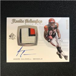2008 SP Authentic Andre Caldwell RPA Patch Auto Rookie Rc 498/999