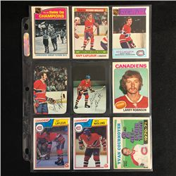 1970-80s MONTREAL CANADIENS HOCKEY CARD LOT
