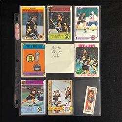 BOSTON BRUINS HOCKEY CARD SET