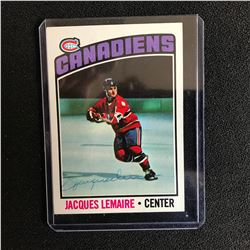 JACQUES LEMAIRE SIGNED CANADIENS HOCKEY CARD