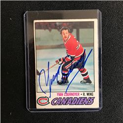 YVAN COURNOYER SIGNED CANADIENS HOCKEY CARD