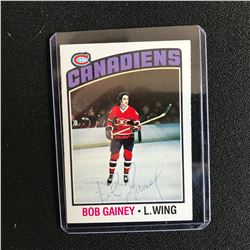 BOB GAINEY SIGNED CANADIENS HOCKEY CARD