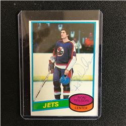 RON WILSON SIGNED VINTAGE JETS HOCKEY CARD