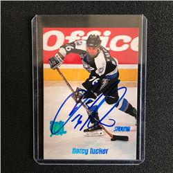 DARCY TUCKER SIGNED STADIUM CLUB HOCKEY CARD