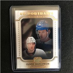 2019-20 Upper Deck UD Portraits ROOKIE P-84 Oliver Wahlstrom