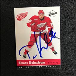 TOMAS HOLMSTROM SIGNED UPPER DECK VINTAGE HOCKEY CARD