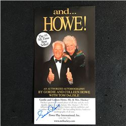 """GORDIE HOWE SIGNED """"and HOWE..."""" BOOK COVER"""