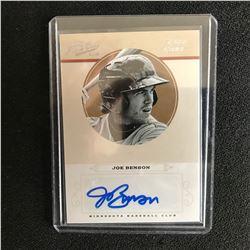 2012 PRIME CUTS RATED ROOKIE JOE BENSON AUTO BASEBALL CARD