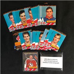 1991 ALBERTA LOTTERIES TEAM CANADA CARDS w/ TRETIAK AUTO CARD