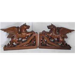 French Walnut Manticore Architectural Corbels
