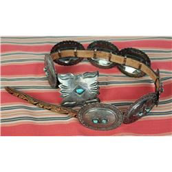 Exceptional Navajo Sterling Silver Concho Belt