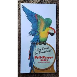 Poll Parrot Shoes Advertising Store Display Sign