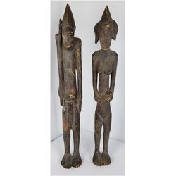 Pair of African Fertility Ancestor Carvings