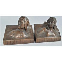 Beatrice and Dante Bookends Jennings Brothers