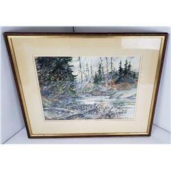 Dana Gibson Noble 1915-1977 Watercolor Connecticut