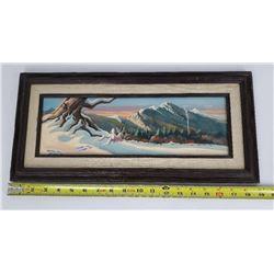 Gene Dieckhoner Arizona Rabbit Winter Oil Painting