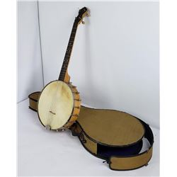 Beautiful Antique Slingerland Maple Banjo in Case