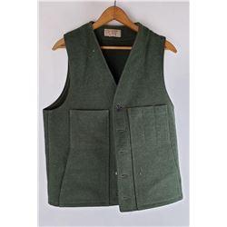 Green Wool Filson USA Hunting Vest Size L