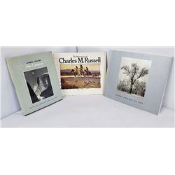 Lot 3 Books Ansel Adams Charles M Russell