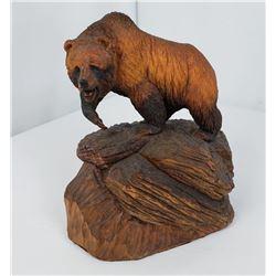 Henry Larum Bear Carving Glacier Park Montana