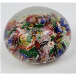 Antique Italian Confetti Paperweight Millefiori