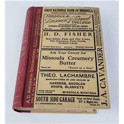 Missoula Montana Polk's Phone Book Directory 1917