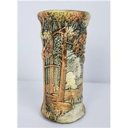 Weller Pottery Woodcraft Tree Vase