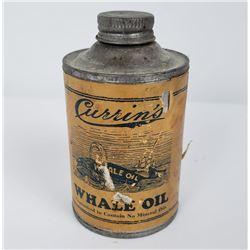 Rare Currins Whale Oil Tin Seattle Washington