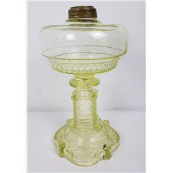 EAPG Yellow Vaseline Kerosene Lamp