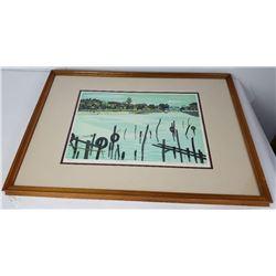 Fumio Kitaoka 1918-2007 Japanese Woodblock Print