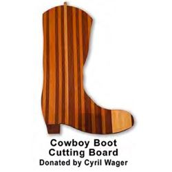 DONATION LOT - COWBOY BOOT CUTTING BOARD