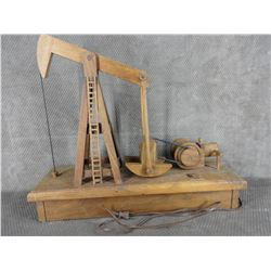 Wooden Model of a Pump Jack with electric motor
