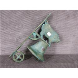 Wall mount Dinner Bell with Pig
