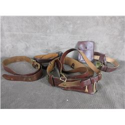 Lot of leather belts