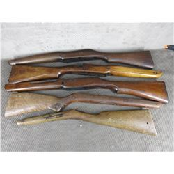 5 Rifle Stocks - Some Damaged