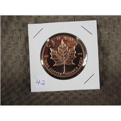 1 Ounce 999 Fine Copper Round