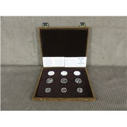 1982 Greek Olympic 9 Coin Set