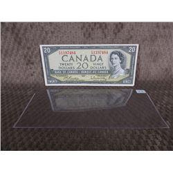 1 - 1954 Canadian 20 Dollar Bill