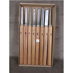 8 Piece Chisel Wood Turning Set