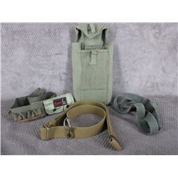 Selection of Military Belts and a Pouch