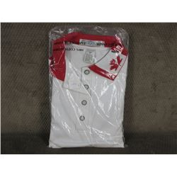 Golf Style Shirt 100% Cotton White Small