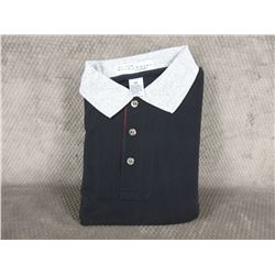 Golf Style Shirt 100% Cotton Black Small